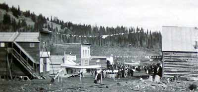 Parade and party in downtown Chitina