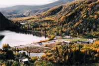 Chitina covered in rich fall colors