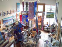 first floor of the gallery as viewed from loft