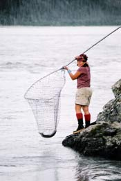 Dipnetting for salmon