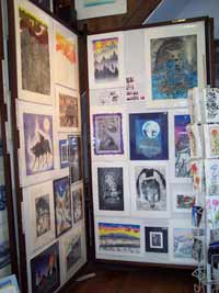 prints displayed in gallery