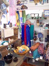 interior gallery display and scarvesscarves